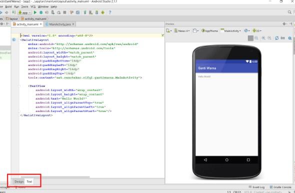 Cara Membuat Aplikasi Android Menggunakan AndroidStudio